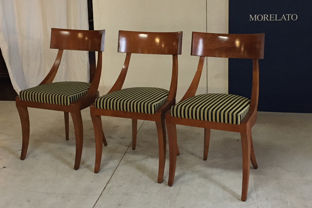Morelato high class outlet sedia biedermeier for Morelato librerie